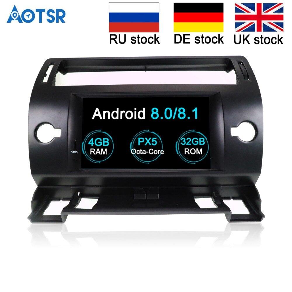 Android 8.0 Octa Core Car GPS Navigation DVD Player For Citroen C4 Quatre Triumph 2004 2012 car stereo multimedia tape recorder
