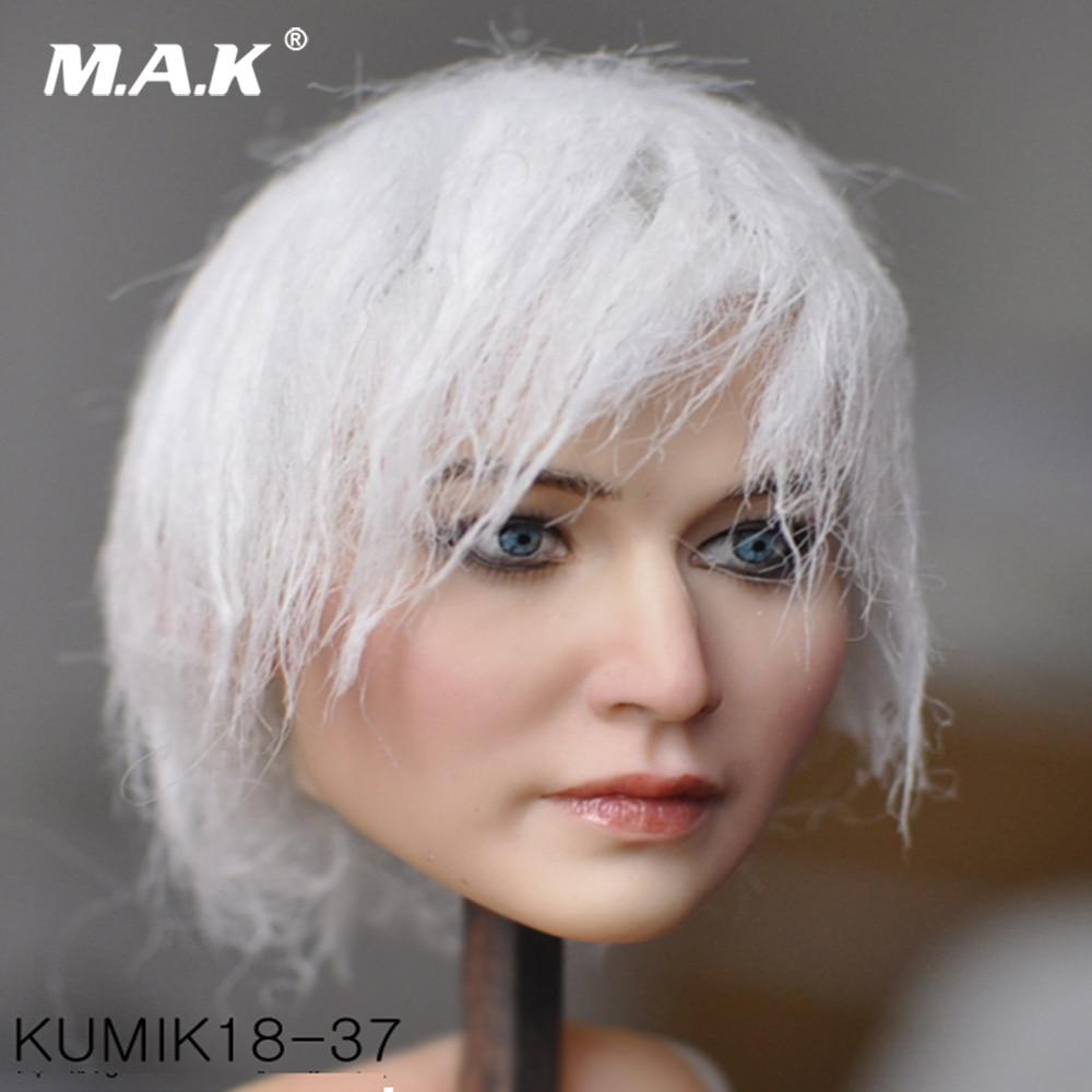 1//6 Scale KUMIK KM18-40 Male Head Carving W Black Short Hair Fit 12/'/' Figure