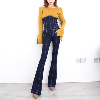 Envío Vendaje Largo Gratis Nueva 2018 Alta Pantalones Moda Cintura FxFYrTqw 9047948563de