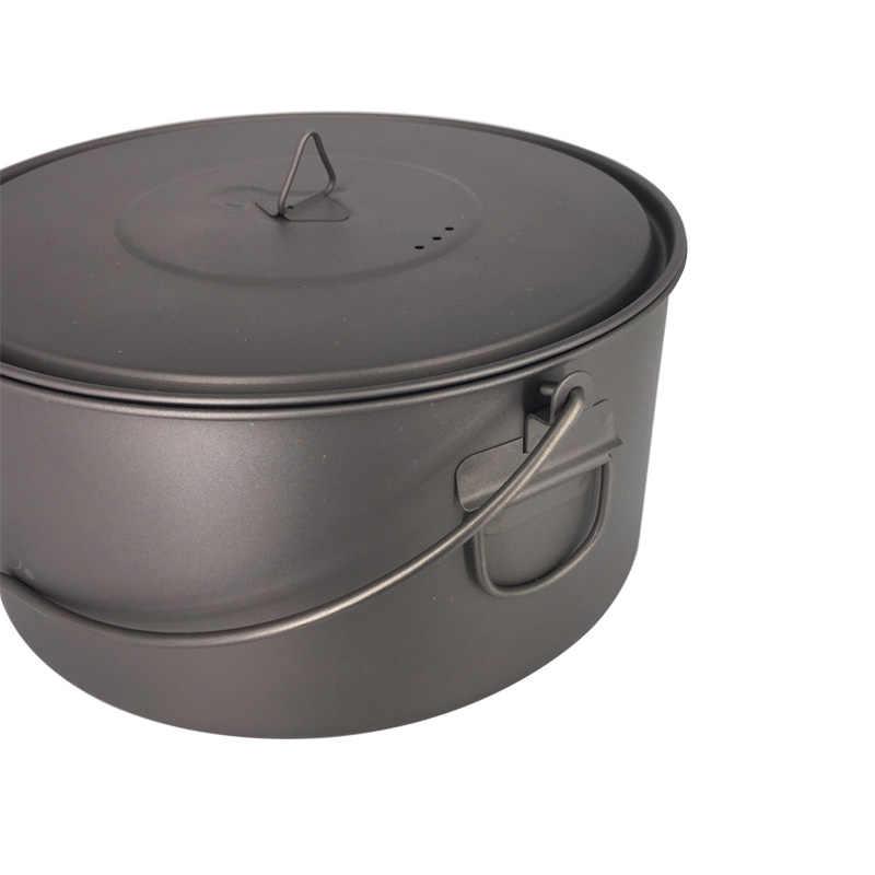 TOAKS Открытый Кемпинг кухонная посуда для пикника висячий горшок сверхлегкий титановый горшок 1600 мл или 2000 мл