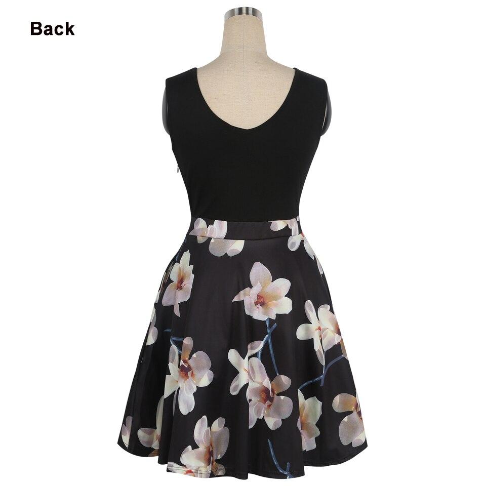 Oxiuly Әйелдер Vintage 1950s style Dress Floral Басып - Әйелдер киімі - фото 4