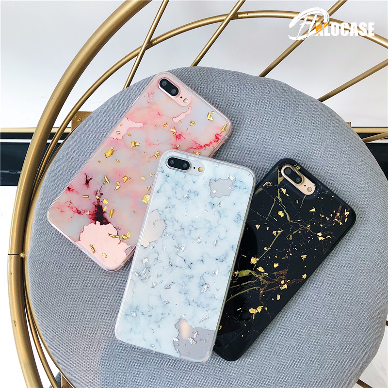 Luxury Foil Marble Phone Case For iphone 6S Case For iphone X 6 7 8 Plus Cases Fashion Cute Back Cover Cool Classical Capa marvel glass iphone case