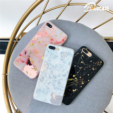 Luxury Foil Marble Phone Case For iphone 6S X 6 7 8 Plus Cases Fashion Cute Back Cover Cool Classical Capa