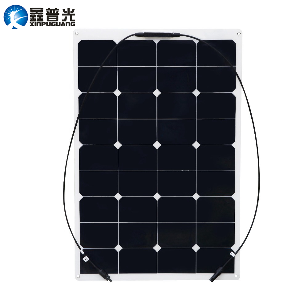 Xinpuguang 75W 20V flexible solar panel 12V quality system kits DIY yacht boat marine RV module car RV boat battery charger boguang 16v 90w solar panel quality cell aluminum board for home system car rv boat yacht 12v battery charger