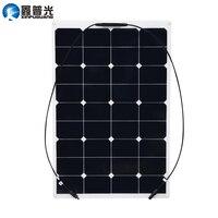 Xinpuguang 75W 20V flexible solar panel 12V quality system kits DIY yacht boat marine RV module car RV boat battery charger