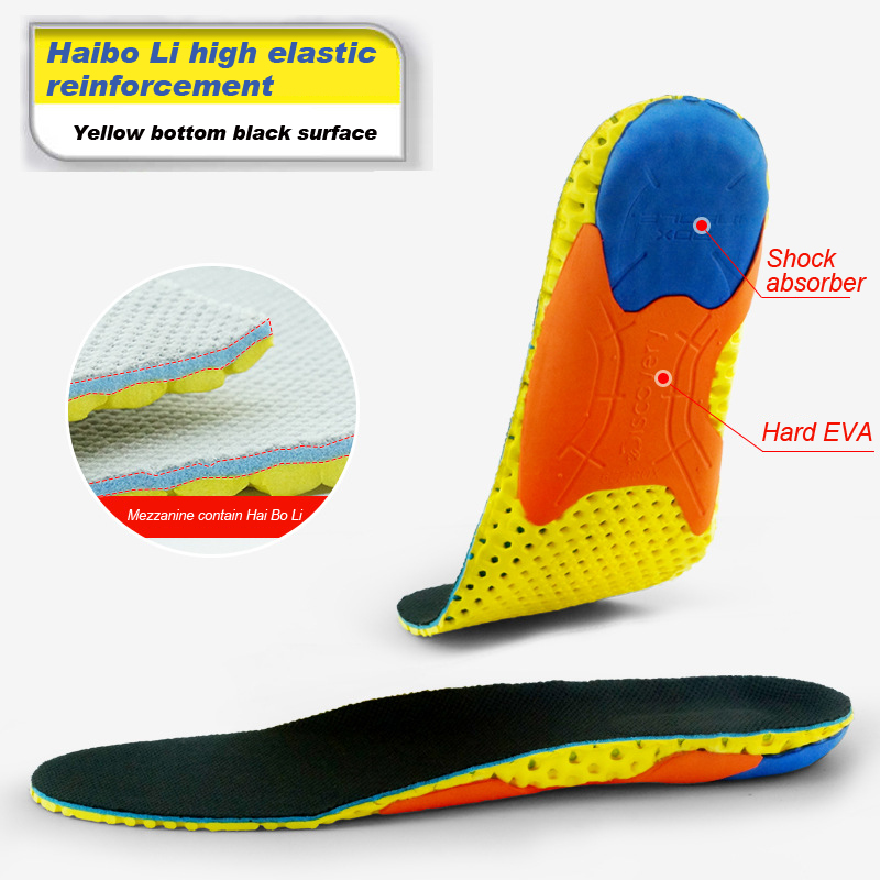 Breathable sports shock absorber insole TPU Orthopedic Insoles for Shoes insert Arch Support pads Insoles  flat foot Insole