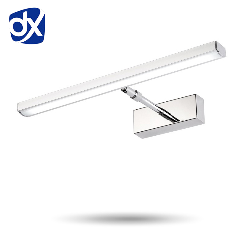 LED Mirror Light 41CM And 51CM AC90-260V Modern Stainless Steel Wall lamp Bathroom Lighting Waterproof comestic lamp modern minimalist waterproof antifog aluminum acryl long led mirror light for bathroom cabinet aisle wall lamp 35 48 61cm 1134