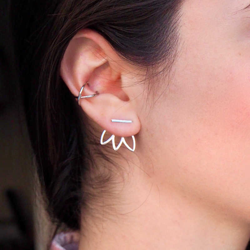 Korean Fashion Ladies Stainless Steel Earrings Geometric Earrings Set Earrings Cute Earrings Fashion Jewelry 2019