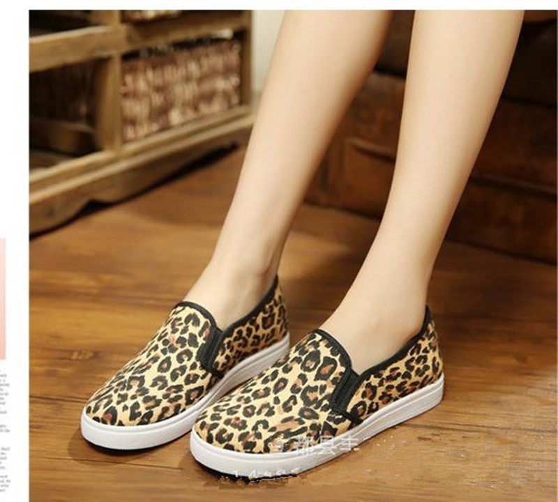 2016 Spring and Autumn Women\'s Casual Shoes Leopard Print  3 Colors Loafer Women Flats Shoes Free shipping HSE15 (2)