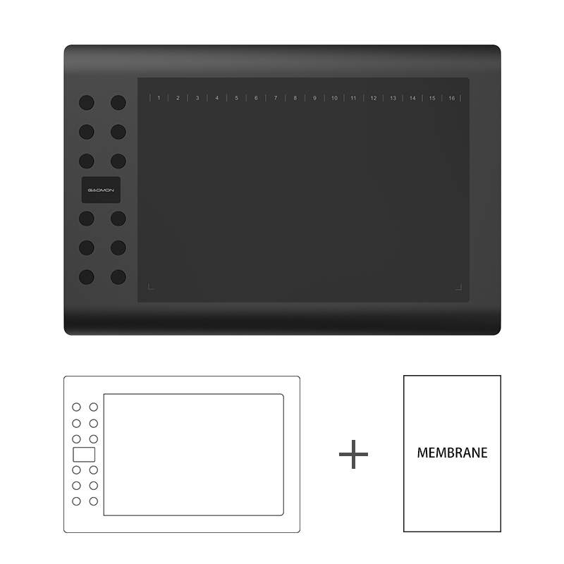 все цены на GAOMON M106K Middle Size Graphics Tablets USB Drawing Board with White Copy Cover онлайн