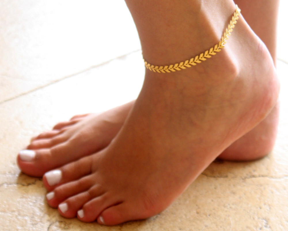 HTB1H7_gKFXXXXb5XpXXq6xXFXXXv Boho Fishbone Chain Anklet Fashion Ankle Foot Jewelry For Women - 2 Colors