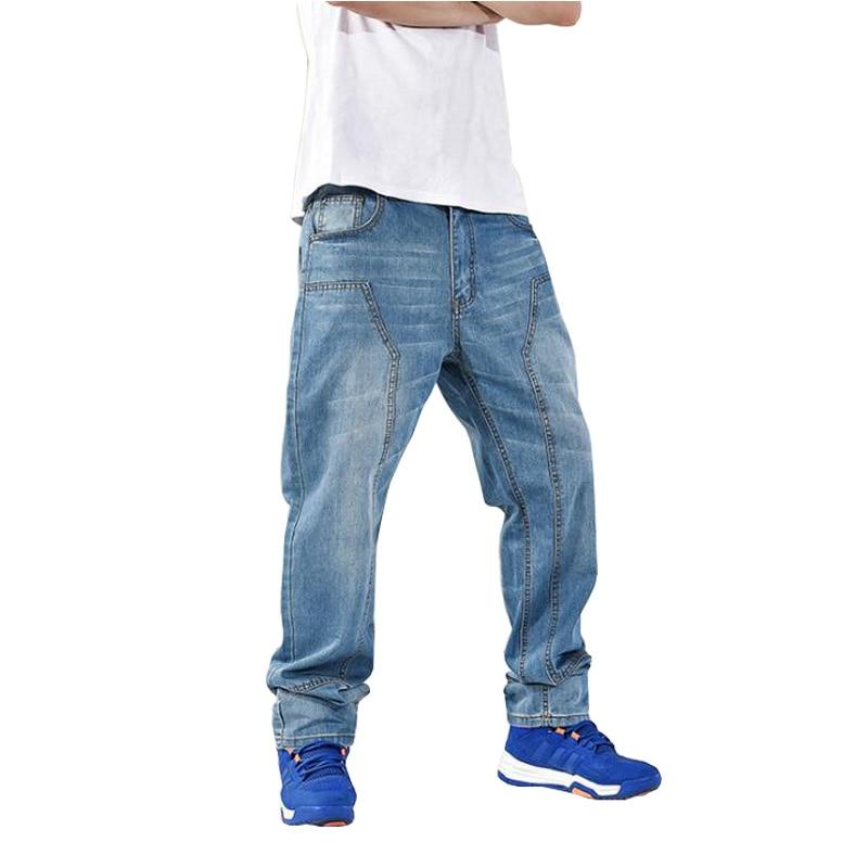 ABOORUN 2016 Hip Hop Mens Baggy Jeans Plus Size Harem Denim Pants Skateboard Jeans for Male P7015 men clothing baggy biker jeans big size casual hip hop masculina pantalones fashion skateboard vaqueros hombre mens harem pants