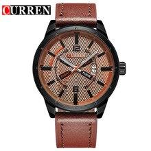 CURREN relojes de marca de fábrica superior 2016 de cuero de moda de lujo casual Relojes de pulsera de Cuarzo relogio masculino esportivo 8211
