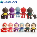 LEIZHAN Cartoon Monkey USB Flash Drive Pendrive 64g 32g 16g 8g 4g USB Stick 2.0 External Computer Storage Memory Card Pen Drive