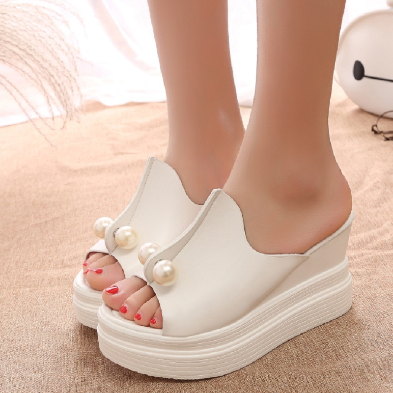 Fashion Gladiator Slippers Summer Women Shoes Creepers Platform Wedge Sandals Thick Heels Chaussure Femme