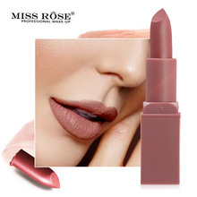 Miss Rose Matte Lipstick Waterproof Nutritious Easy to Wear Lipstick Long Lasting Lips Makeup miss rose matte lipstick waterproof nutritious easy to wear lipstick long lasting lips makeup