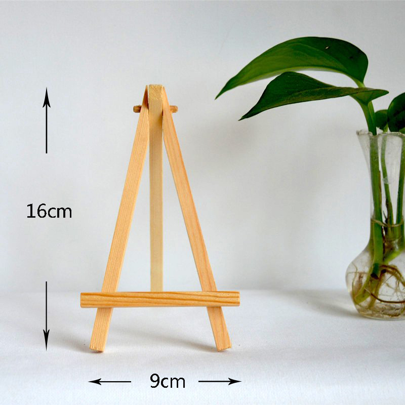 10pcs/Set 16*9cm Mini Artist Wooden Easel Wood Wedding Table for Party Decoration Card Stand Display Holder