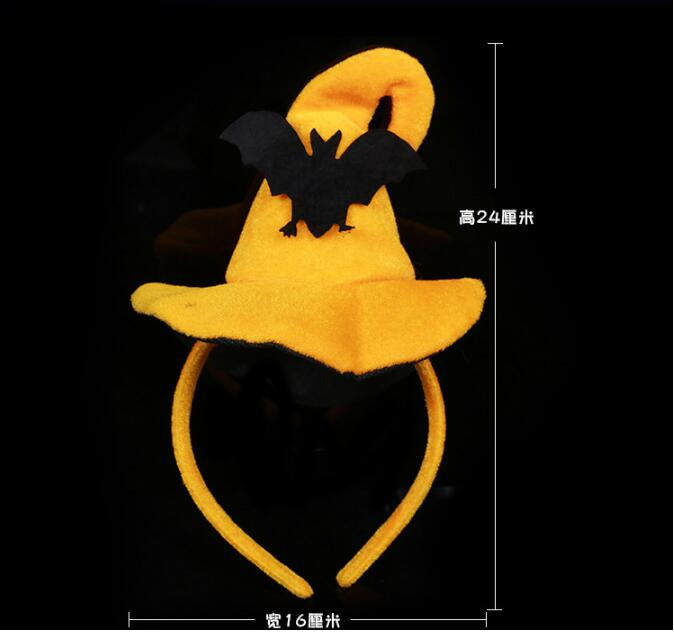 DHL 100 pieces Halloween Hairbands Pumpkins Bats Characters Handmade Head Hoop Funny Headwear Festival Party Hair Accessories