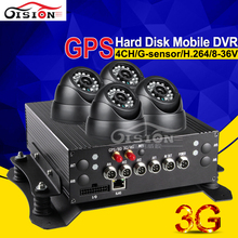 HD D1 4CH Digital Video Recorder Manual Count Passager Camera Car Dvr Kits With3G Realtime Network I/O GPS Track Remote Control