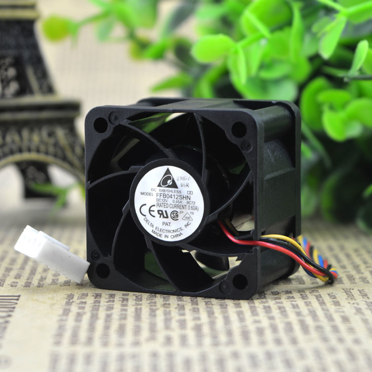 Delta FFB0412SHN DC 12V 0.60A 40x40x28mm 4cm PWM Server Inverter Case Axial Cooling Fan