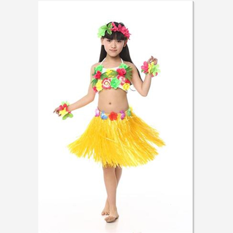 New Cheerful Girls Hawaiian Dance Costumes Fairy Princess Style Lovely Flowers Tassel Children Summer Beach Dress Yellow Green-in Clothing Sets from Mother ...  sc 1 st  AliExpress.com & New Cheerful Girls Hawaiian Dance Costumes Fairy Princess Style ...