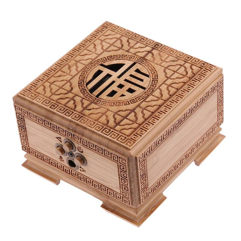 1Pcs Bamboo Square Box Wireless Bluetooth Speaker Sound Box Loudspeaker with Mic Sound System 3D Stereo Music Surround Promotion цена