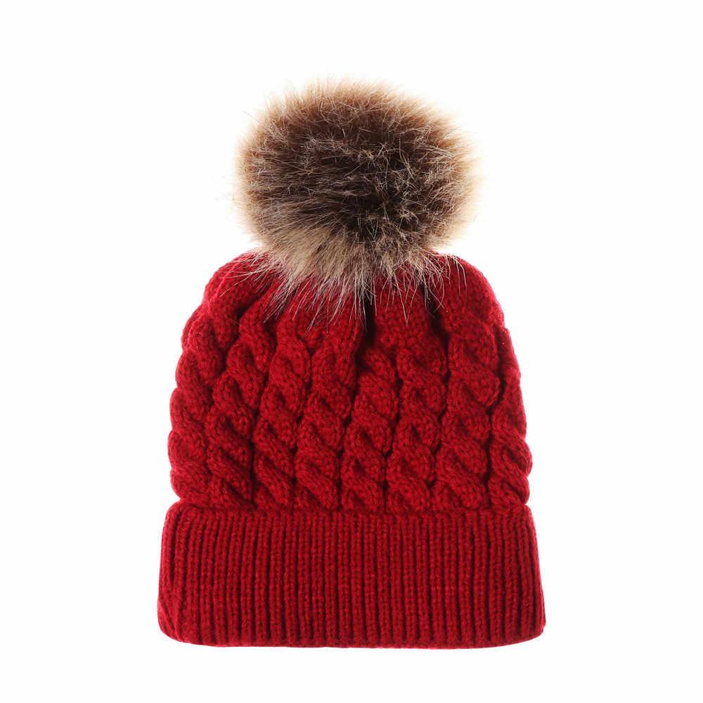 Шапка для новорожденных шапка для младенца Детская шерстяная вязаная шапка с помпоном для маленьких мальчиков и девочек зимняя теплая шапка Gorros Para Bebe # NL