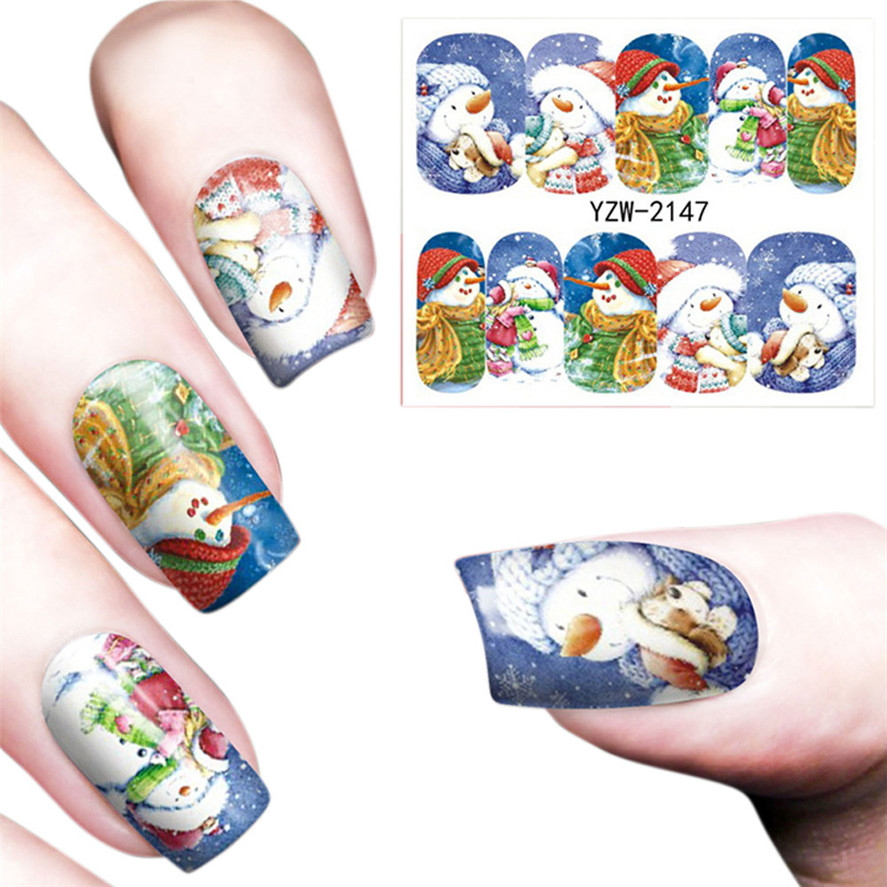 OutTop 1PC Christmas Snow Deer Nail Art Gel Tips DIY Stamping ...