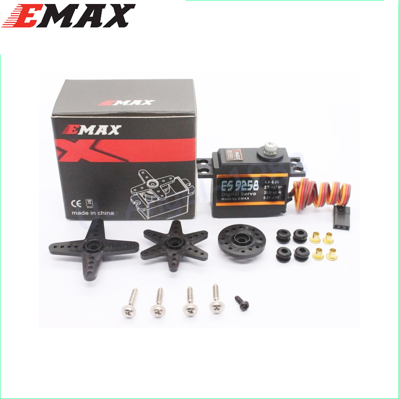 1pcs EMAX ES9258 Metal Gear Digital Servo 27g/ 3kg/ .05 sec for rc helicopter цена