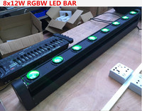 2pcs/lot LED Bar Beam Moving Head Light RGBW 8x12W Perfect for Mobile DJ, Party, nightclub Colorstage 8 BEAM MOVING