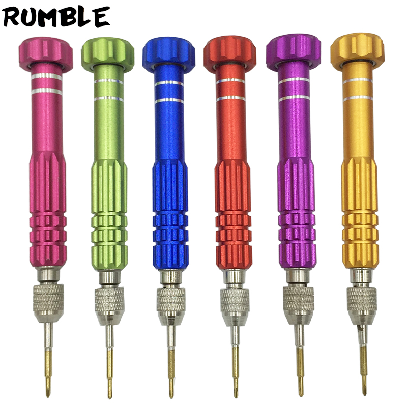 Generous Rumble 5 In 1 Screwdriver Repair Kit Phone Opening For Iphone For Samsung For Phone Computer For Pad High Quality Red Blue Gold