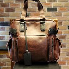 2017 männer Reisetaschen Hochwertige Leder-umhängetasche Marke Männer Messenger Bags Mit Großer Kapazität Handtasche männer Reise Duffle