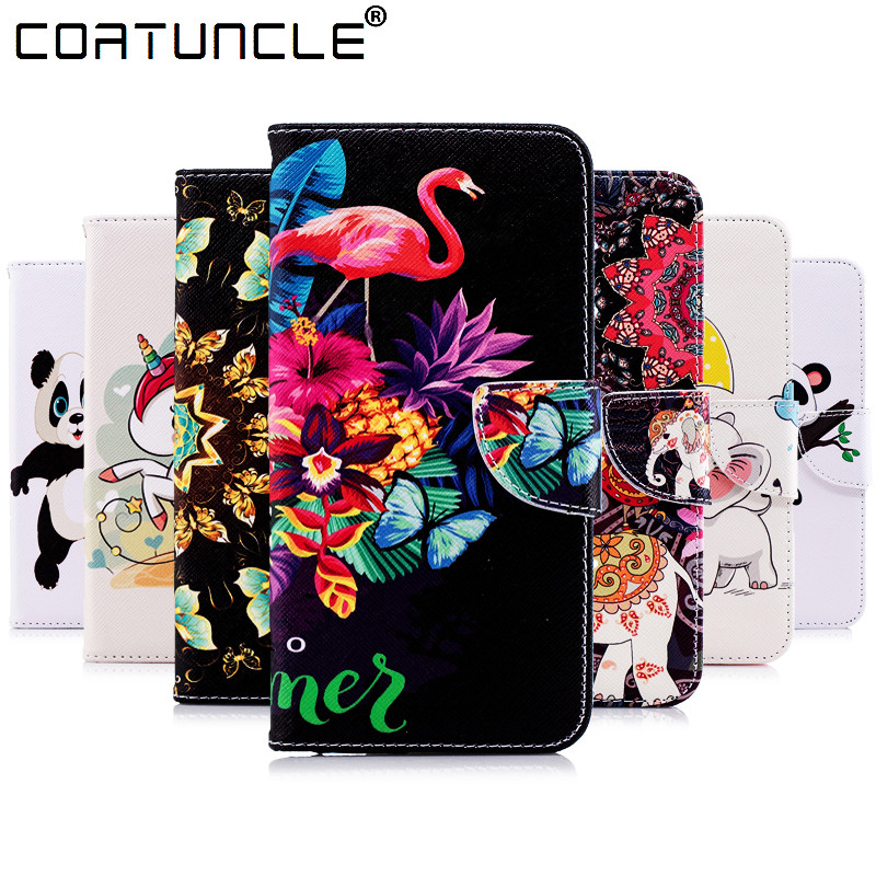 100% Quality Flip Leather Case Sfor Coque Samsung Galaxy Note 8 Case For Funda Samsung A5 2017 Panda Painted Wallet Cover Stand Phone Case Neither Too Hard Nor Too Soft
