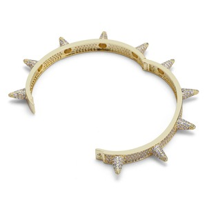 Image 4 - TOPGRILLZ Bracelets à rivets, à épis, en zircone cubique, bijoux Hip Hop