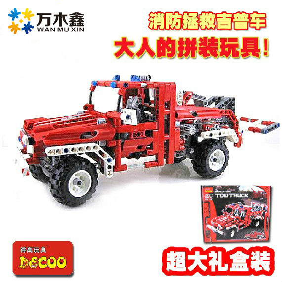 Decool 3327 Exploiter Series Transport Tow Truck 680pcs Car Model Building Block Sets Educational DIY Bricks Toys for children jie star 29012 swat truck 302pcs diy educational plastic children toys building block sets