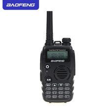 Nova Baofeng A52 Walkie Talkie Dual Band VHF/UHF 136-174/400-520MHz 5W FM Handheld transceptor de 128 Canais de Rádio Em Dois Sentidos BF-A52