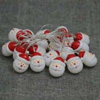 Guirlande Lumineuse padre Navidad luz muñeco de nieve cadena luces árbol de Navidad Santa Claus Hada luz LED luz decorativa