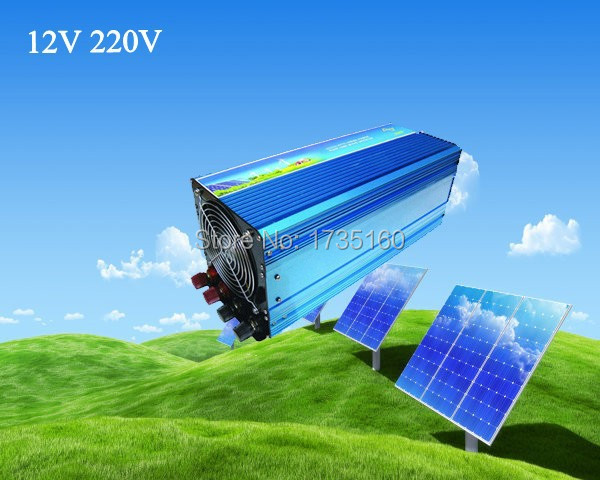 цена на Free Shipping, 3000W Off Grid Tie Inverter DC12V/24V/48V Pure Sine Wave Inverter for Wind Turbine/Solar System, 6000W Peak Power