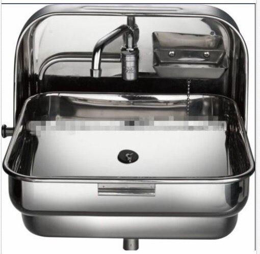 RV Caravan Camper Wallmount SS Folding Hand Wash Kitchen Sink GR 595(China)