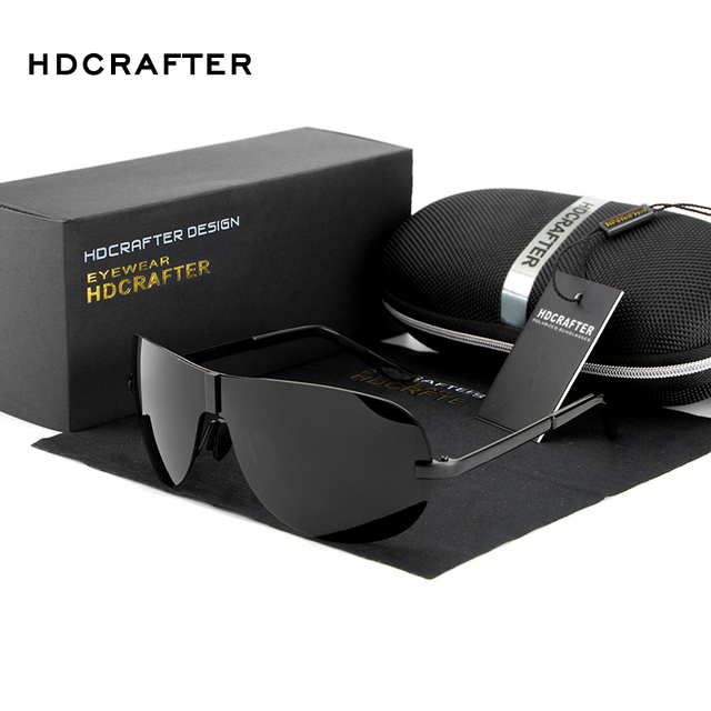 HDCRAFTER Hot Aviator Sunglasses Man Fashion Polarized Driving Sunglass for Men Pilot Sunglasses Brand Designer 2016 Sun Glasses
