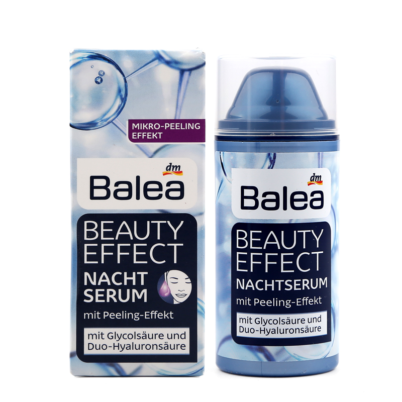 все цены на Germany Balea Beauty Effect Night Serum Hyaluronic Acid Peeling Effect Skin Renewal oil-free formula Effective care overnight онлайн