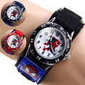 spiderman Cartoon Watch Fashion Children Boys Kids Students Spider-Man Nylon Sports Watches Analog Wristwatch Relogio
