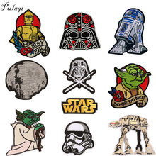 Pulaqi Star War Patches Iron On Clothes Chewbacca Yoda Storm Trooper BB8 Robot Embroidered Patch For Clothing Girls Boys H