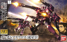 Bandai Gundam 12192 HG 1/144 Flauros mobil takım elbise monte Model kitleri Anime aksiyon figürleri oyuncaklar çocuklar için hediye