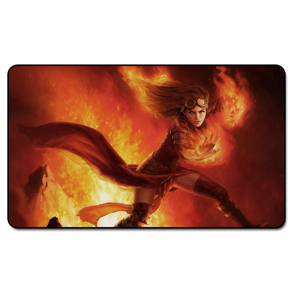(Fire Blood Chandra Playmat) MGT Playmat, Magical Board The Games Proxy Play Mat,Custom Playmat Design with Free Bag ...