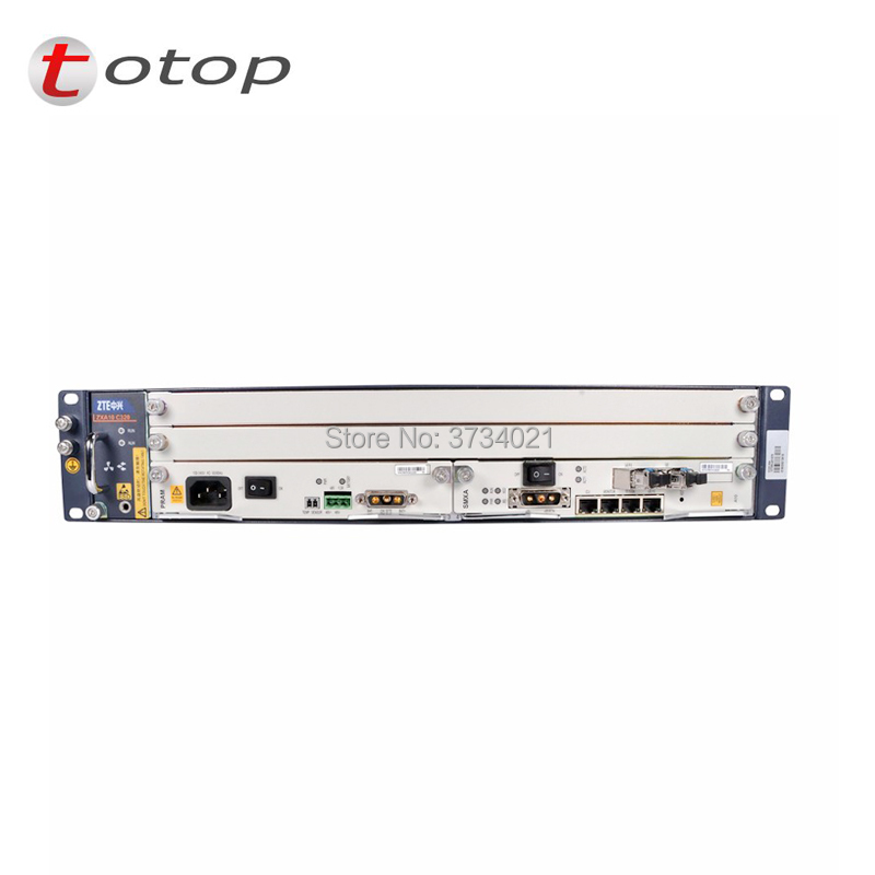 Olt zte ZTE OLT ZXA10 C320 2U Optical Line Terminal Attrezzature, GPON o EPON carta di carta di SMXA, CARROZZINA carta, AC + DC power supply