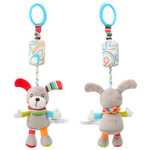 Image 2 - Rattle Toys For Baby Cute Puppy Bee stroller Toy Rattles Mobile Baby bed Stroller 0 12 Months Infant Bed Hanging toy погремушки