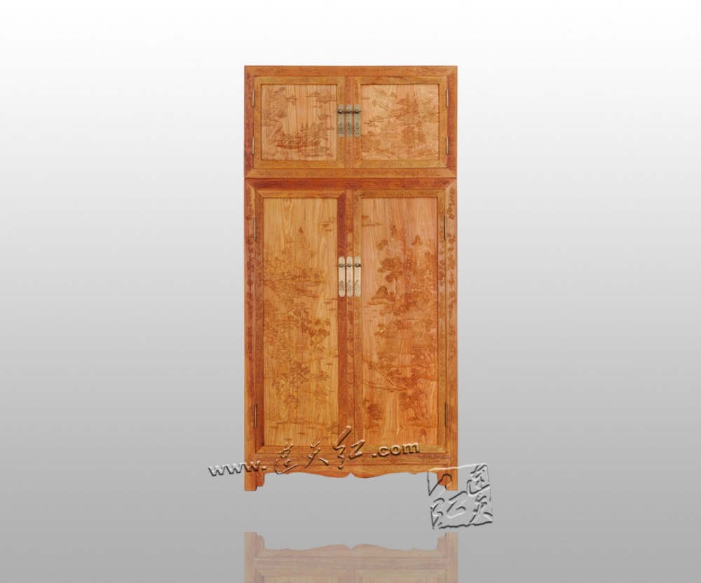 Minimalist Modern Flat Sliding Door Wardrobe Burma Rosewood Amoire Bedding Room Furniture Solid Wood Closet Redwood Clothespress