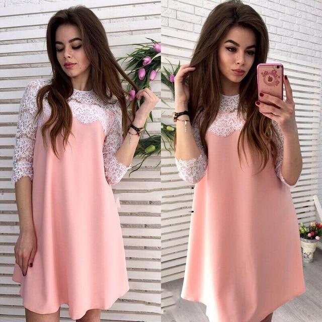 Vestidos de 2017 Mujeres Casual Lindo Straight Solid Rosa Blanco ...