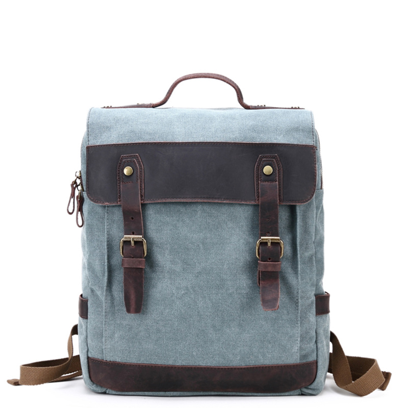 High Quality Canvas Backpack With Large Capacity For Women & Men European Style Big Travel Bags Double Shoulder Rucksacks H027